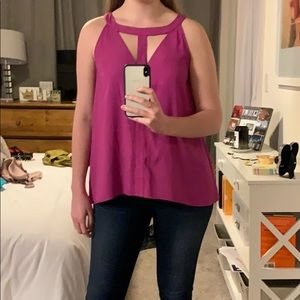 Gianni Bini plum blouse